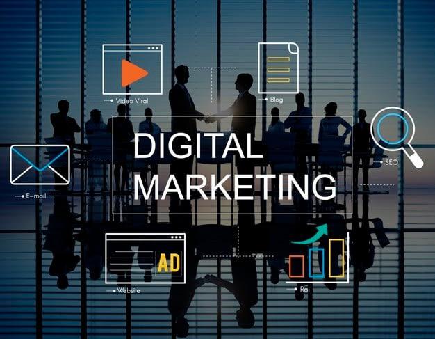 digital marketing with icons business people 53876 94833 - Бизнес идея: Digital-агентство