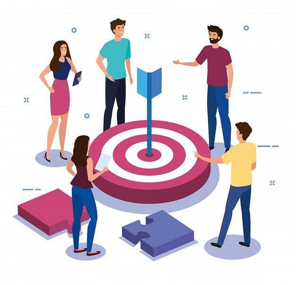 teamwork people with target puzzle pieces 24877 54955 - Интернет-маркетинг