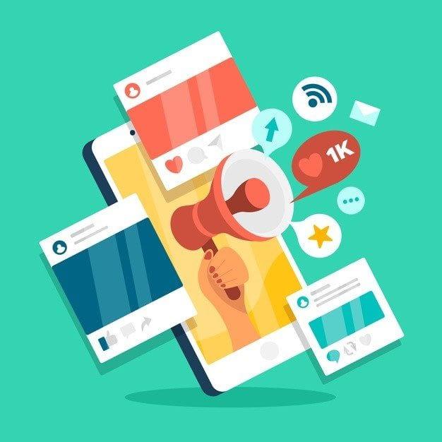 social media marketing mobile phone concept 23 2148433150 - Маркетинг и материалы для маркетинга