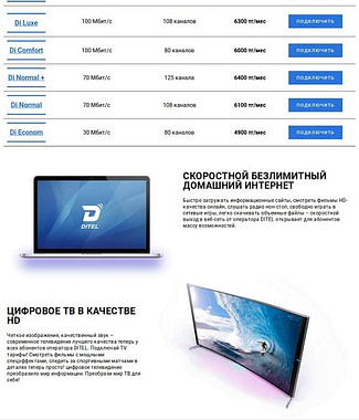 ditel - Расчет стоимости создание сайта