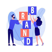 product brand building corporate identity design studio designers flat characters teamwork cooperation collaboration company name concept illustration 335657 1722 - Бренды или тренды
